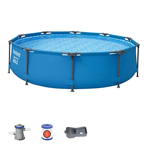 🥇 Bestway Steel Pro Frame Swimming Pool with Pump – 10 feet x 30 inch