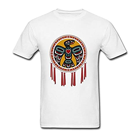 Layannie Men's Native American Drum With Eagle Short Sleeve T shirt M (Dead Drum Player)