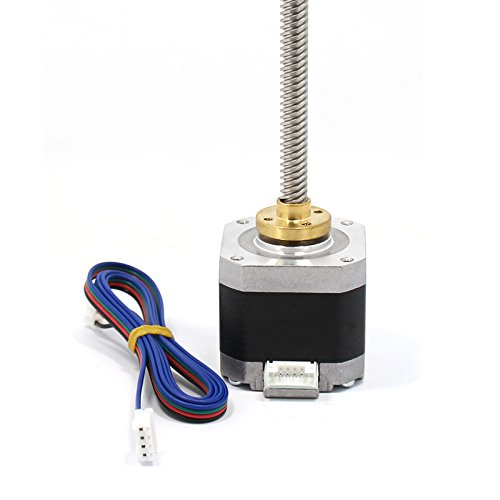 Kee Pang 300mm T8 Lead Screw Integrated with Nema 17 Stepper Motor 1.5A 48Ncm/69 oz.in 4-Lead W/800mm Cable and Connector for DIY 3D Printer Kits by kee pang (Image #4)