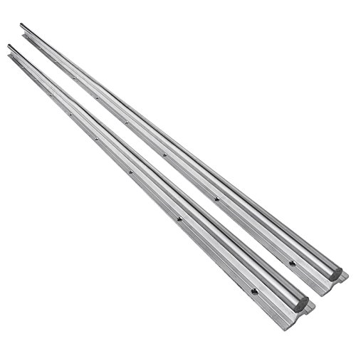 OrangeA 20-1500mm Linear Rail 2 Set SBR Fully Supported Slide Guide Linear Rail Length 1500mm/59 2PCS Linear Guideway Rail For Automated Machines and Equipments