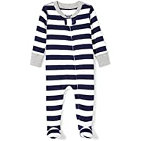 Moon and Back Baby Organic Footed Zip-Front Sleep and Play