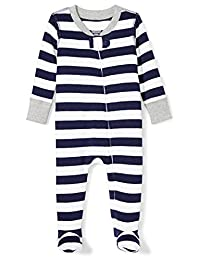 Moon and Back Unisex-Baby Baby Organic Footed Zip-Front Sleep and Play