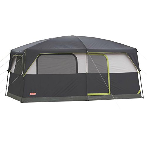 Coleman Prairie Breeze 9-Person Cabin Tent, Black and Grey Finish ()