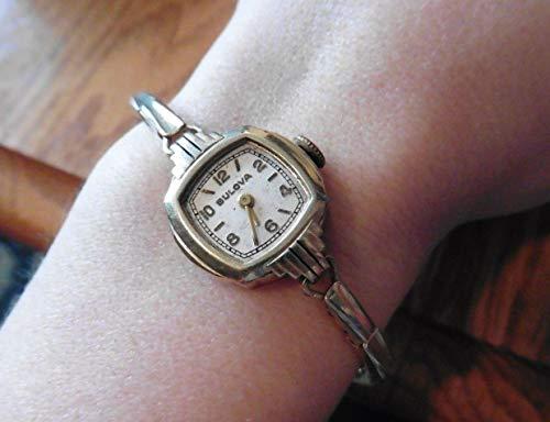 Bulova watch Ladies wristwatch mechanical vintage wind up 10k GF gold 0385488 ()