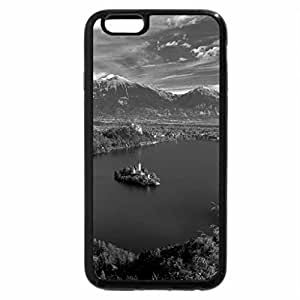 iPhone 6S Case, iPhone 6 Case (Black & White) - Lake Bled