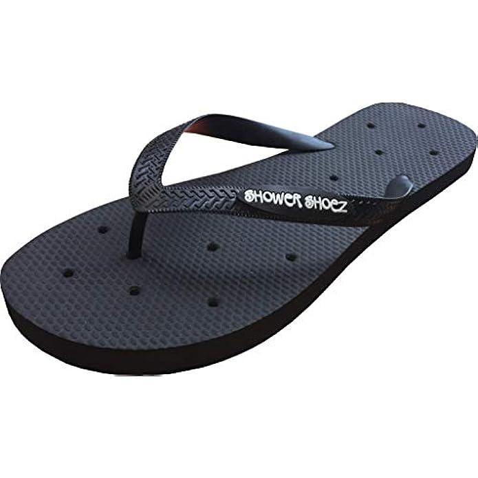 Shower Shoez Men's Non-Slip Gym Pool Dorm Water Sandals Flip Flops