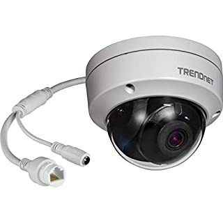 TRENDnet Indoor/ Outdoor 8MP 4K H.265 WDR PoE Dome Network Camera, IR Night Vision up to 30m (98 ft.), IP67 Rated, Fixed Pan/Tilt, 120dB Wide Dynamic Range, Motion Detection Recording, TV-IP319PI