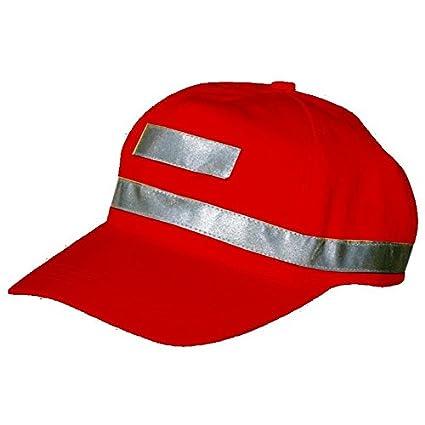 HI VIS CAP LEONARDO RED