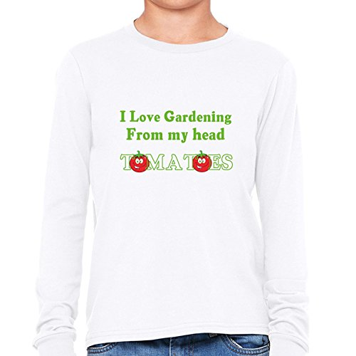- Funny I Love Gardening From Head Tomatoes Boy's Long Sleeve T-Shirt
