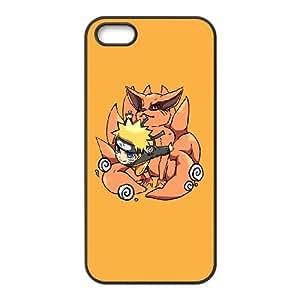Uzumaki Naruto and Kurama iPhone 4 4s Cell Phone Case Black DIY GIFT pp001_8981559