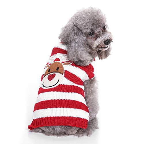 DENTRUN Christmas Sweater Dog Cat Vest Coat Winter Cold Weather Jacket Sweater,Pet Cats Jeans Cool Denim]()