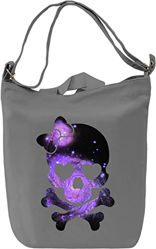Galaxy Skull Borsa Giornaliera Canvas Canvas Day Bag| 100% Premium Cotton Canvas| DTG Printing|
