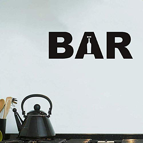 liotry Wall Art Decal Sticker Words Wall Saying Words Removable Mural Bar Sign ()