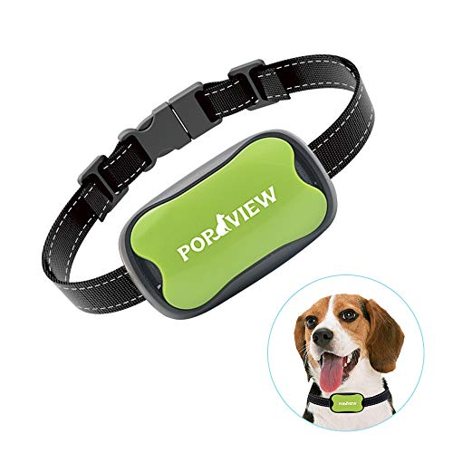 Cheap POP VIEW Dog Anti Bark Collar, Small, Medium, Large Dogs, 7 Adjustable Levels Sound Vibration, No Shock, Harmless & Humane, Stops Dogs Barking