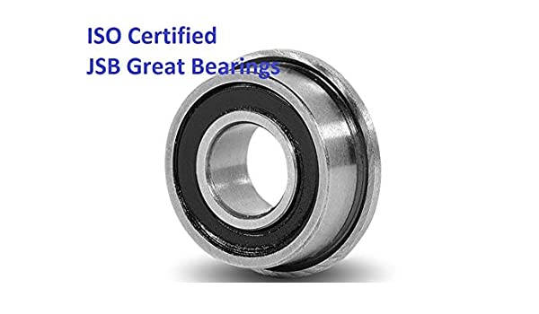 """Qty 4 FR8RS FR8-2RS Sealed Flanged Bearings ABEC 3 1//2/"""" x 1-1//8/"""""""