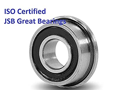 """3//16/"""" x 1//2/"""" x 0.1960/"""" FR3-2RS 20 PCS Flanged Rubber Sealed Ball Bearings"""