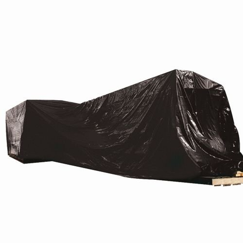 Box Partners Black Poly Sheeting, 16' x 100' - 4 Mil - Price is per Case