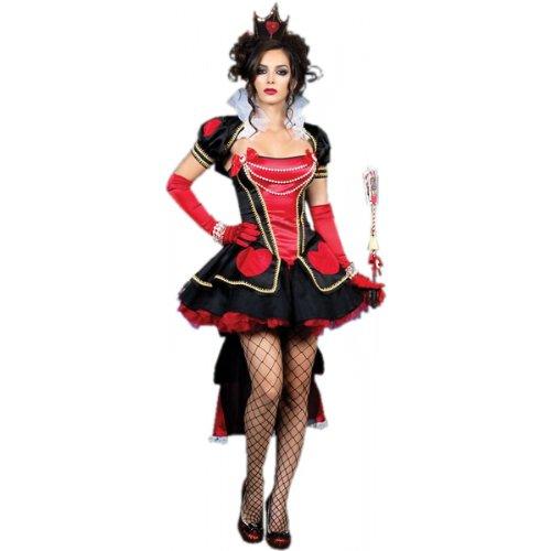 Deluxe Queen of Hearts Adult Costume - Medium