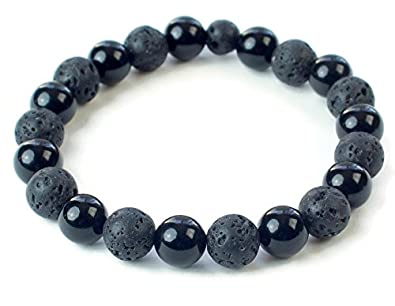 products jai amazonite silver bead zoom ball with onyx style b bracelet black