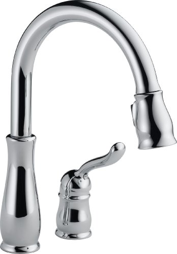 Delta 978-WE-DST Leland Single Handle Water Efficient Pull-Down Kitchen Faucet, Chrome