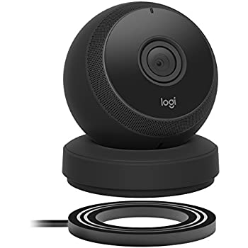 Logitech Circle Wireless HD Video Battery Powered Security Camera with 2-way talk – Black
