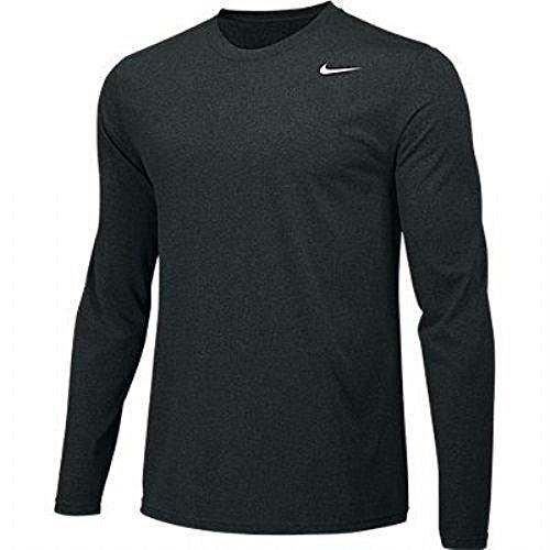 Black Youth Long Sleeve T-shirt - Nike Boys Legend Long Sleeve Athletic T-Shirt (Black, Youth Large)
