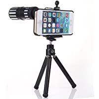 12x Zoom Lens Telephoto Lens with Tripod Mount + Back Case for iPhone 6 Plus 5.5
