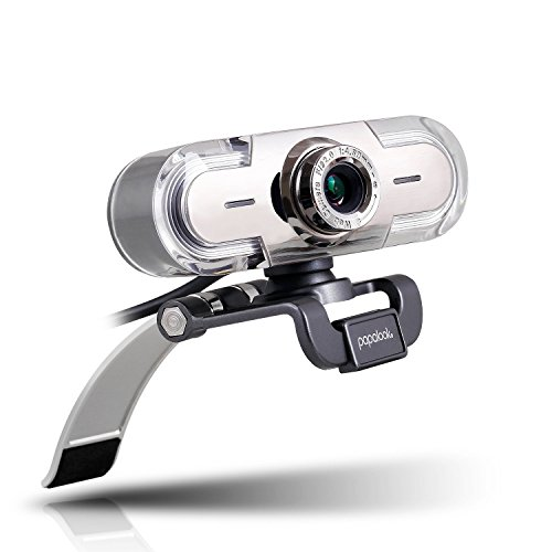 Full HD 1080P Webcam, papalook PA452 PC Computer Camera with Colorful LED Lights, built-in MIC for Video Calling and Recording on Skype, MSN, Windows Live Messenger and Yahoo