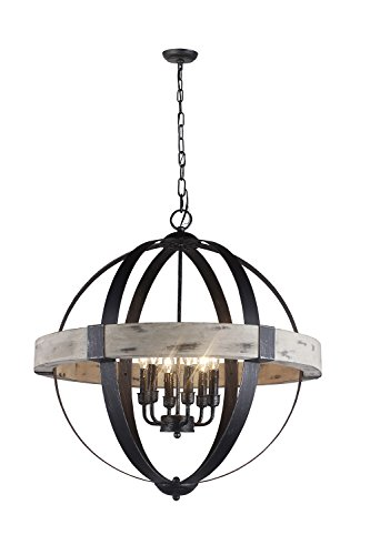 Light Candle Chandelier Finish (Y-Decor LZ1117-6 6 Light Candle Style Chandelier)