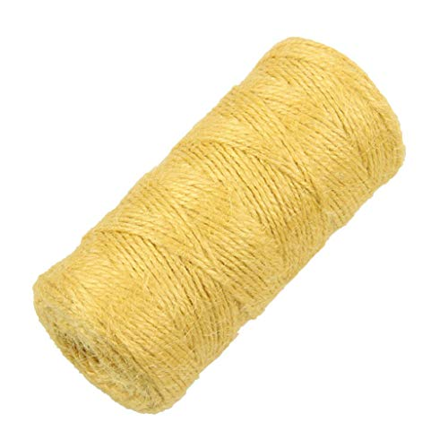 (Jute Twine 2mm 328ft Natural Jute Rope Cord Wedding Festival Christmas Decor |Color - Yellow|)