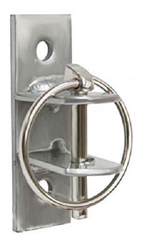 Showman 2 Pack Heavy Duty Steel Water Feed Bucket Bracket Holder Screws 2 Barn Wall Locking PIN