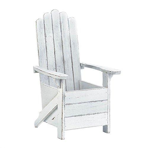 White Adirondack Chair Planter (Seating Patio Ideas Diy)