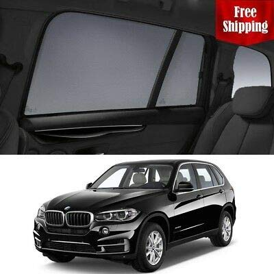 Magnetic Car Window Shades for BMW X5 2016 F15 Rear Side Car Window Sun Blind Sun Shade for Baby Mesh by Magnetic Shades