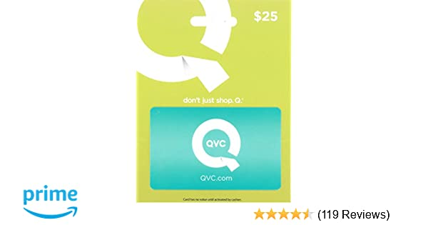 Amazon com: QVC $25 Gift Card: Gift Cards