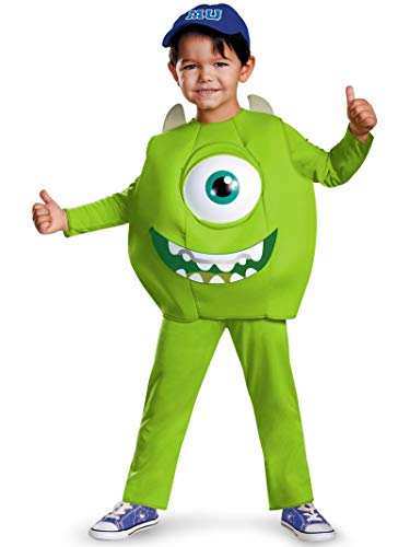 Monster Inc Infant Halloween Costume (Disney Pixar Monsters University Mike Toddler Deluxe Costume,)