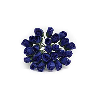 1cm Dark Blue Navy Paper Roses, Mulberry Paper Flowers, Miniature Flowers, Mulberry Paper Rose, Paper Rose Flower, Wedding Favor Decor, Miniature Rose, DIY Bouquet, Scrapbooking Flowers 50 Pieces 28