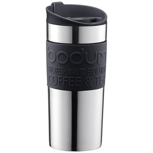 Bodum Vacuum Travel Mug, Small - Black - 0.35 L, 12 Oz (Vacuum Coffee Bodum)