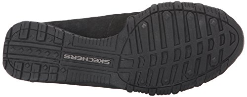 Donna Pedestrian Suede Bikers Scarpe Skechers Black Relaxed a collo basso vqYFv5xB