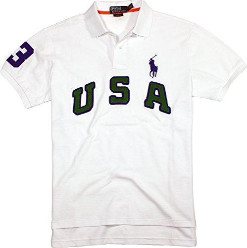 Match Fit Custom (Polo Ralph Lauren Custom-Fit USA Big Pony Polo, White, M)