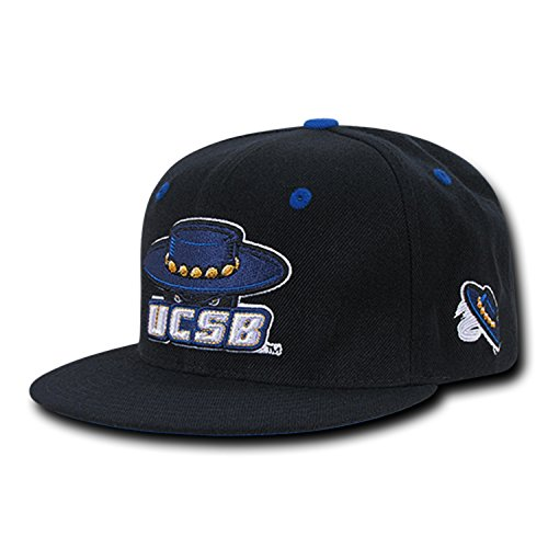 (University of California Santa Barbara UCSB Gauchos NCAA Retro Flat Bill Officially Licensed Snapback Baseball Cap Hat)