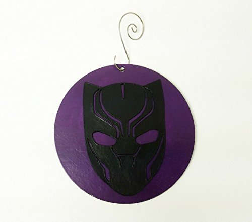 (Black Panther Ornament | The Avengers | Marvel | Comic Book Gifts | Wakanda | Shield | Car Decor | Rear View Mirror | Auto Accessories)