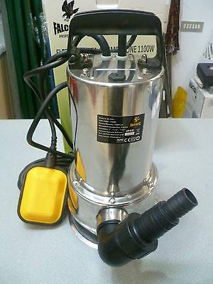 Pumpe elektrische Tauchpumpe Inox 1100W–für Schmutzwasser-Tauchpumpe