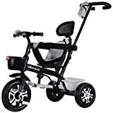Kids tricycle With push Bar Ride On Tricycle Bike Black