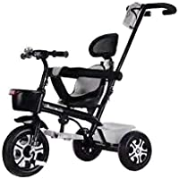 LH Toys Kids tricycle With push Bar Ride On Tricycle Bike Black
