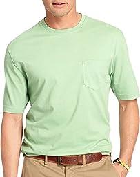 IZOD Men\'s Doubler Crew Neck Solid Short Sleeve Tee, Sea Crest, Medium