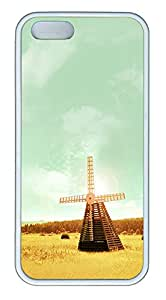 iPhone 5 5S Case Wooden Windmill TPU Custom iPhone 5 5S Case Cover White