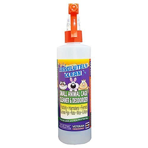 Pet Cage Cleaner (Amazing Small Animal Cage Cleaner - Just Spray/Wipe - Easily Removes Messes & Odors from Hamsters, Mice, Rats, Guinea Pigs, Ferrets, Rabbits, Chinchillas & More - Veterinarian Approved - USA Made)