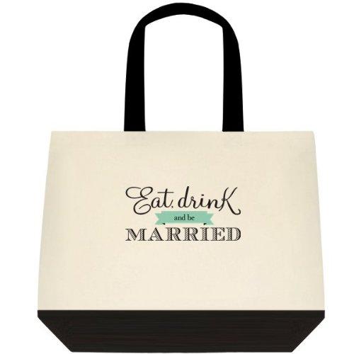 ''Eat, Drink & Be Married'' Wedding Bride Tote Bag