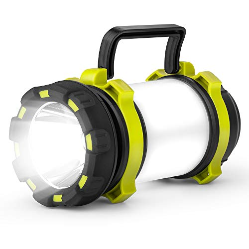 CCJK Camping Lantern – Rechargeable LED Camping Lantern IPX4 Waterproof 600lm Flashlights with 4 Light Modes,4000mAh Emergency Power Bank for Hurricane Emergency,Hiking,Home and More