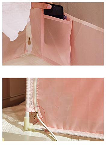Mosquito net Single Bed on Insect net Yarn Zipper Three Door Sitting Bed Bedroom encryption Decorative Tent, Pink, 1.5M by Lostryy-Mosquito Nets Baby (Image #4)